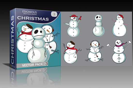 Christmas, emo kids and evil creatures vector packs released