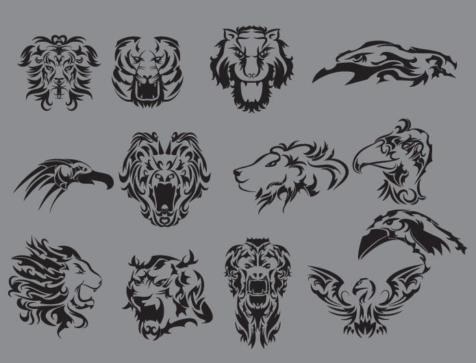 Animal print, tribal and tech vector packs + t-shirts