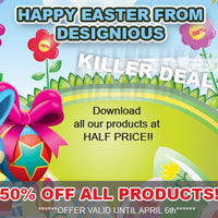 50% OFF All Products from Designious !