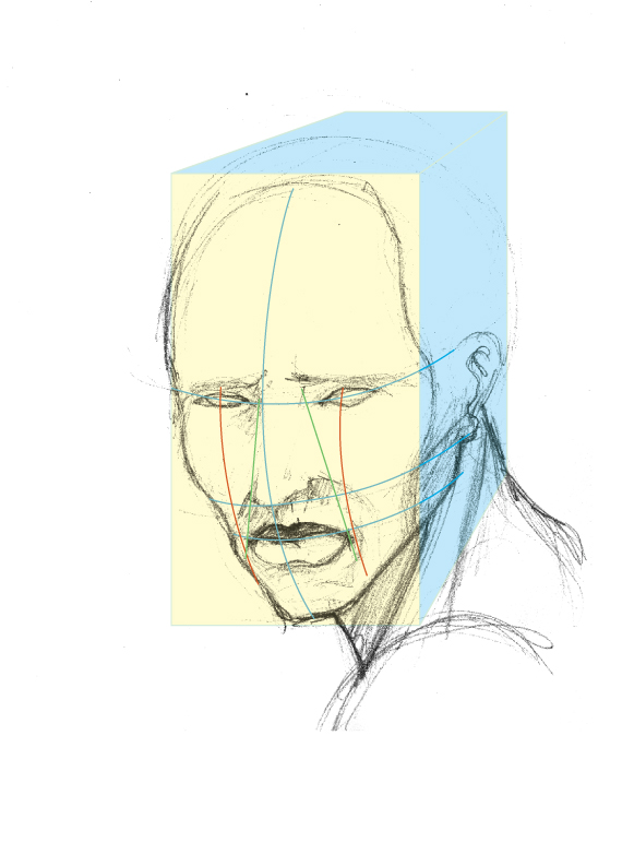 Drawing vector portraits Part 1: The facial structure