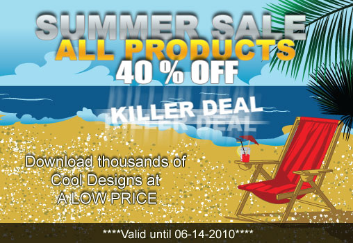 Vectors summer sale with a 40% discount