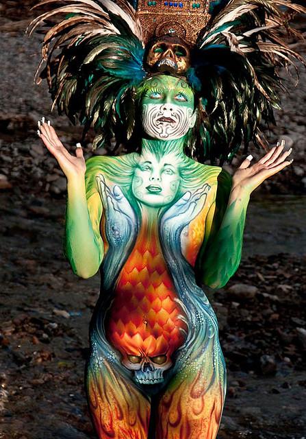 Breath Taking Body Painting Art