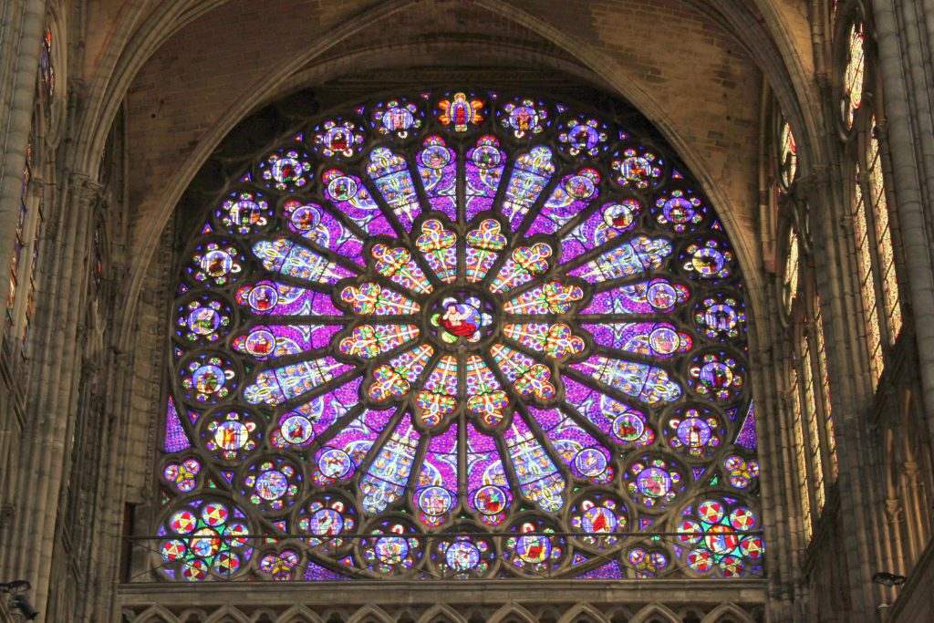 Rose Window At The Basilica Of St Denis