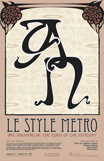 Modern Art Nouveau Ads