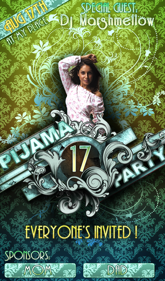 How to Create a Vintage Party Poster in Photoshop