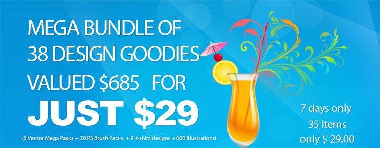Mega Bundle of Design Goodies for Just $29 + Giveaway