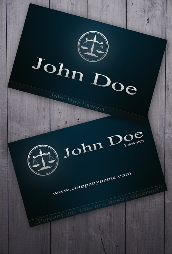 Business Card for Lawyers and Attorneys