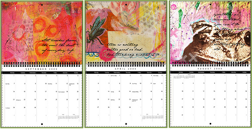 Creative Monthly Calendar Ideas : Ideas to promote yourself offline as a freelance