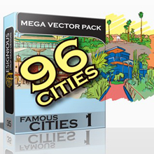 36 Famous Cities – 6 Fabulous New Vector Packs from Designious.com!
