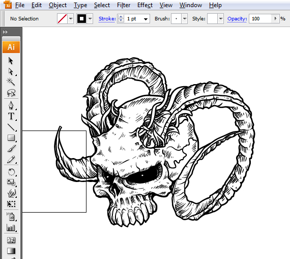 How To Draw Evil Vector Skulls In Illustrator
