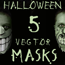 Giveaway – Win 5 Scary Halloween Vector Masks!