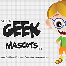 Geek Mascots Vector Set 1, Stickers Vector Set 1 and Freebie – Fresh Goodies on Designtnt.com!