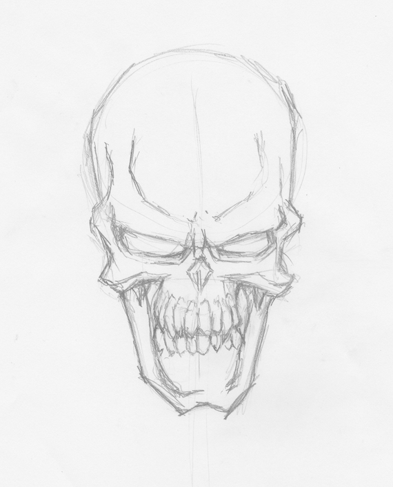 How To Draw Evil Vector Skulls In Illustrator