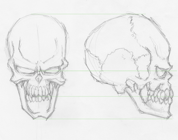 How To Smooth Drawing Lines In Illustrator : How to draw evil vector skulls in illustrator