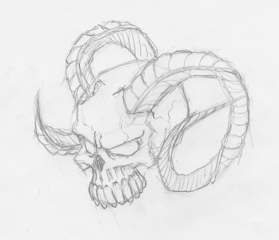 How to draw evil vector skulls in illustrator for How to draw good sketches