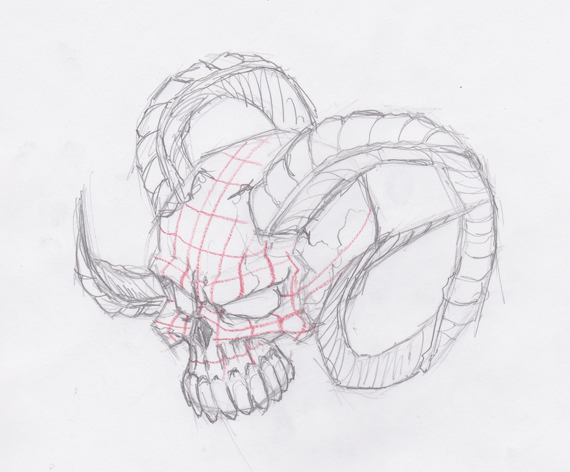 How to draw evil vector skulls in illustrator im altavistaventures Images