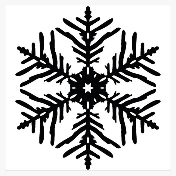 Simple Snowflake Line Art : How to create vector snowflakes tutorials design
