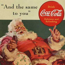 Get a Taste of Christmas with some Vintage Advertising Designs