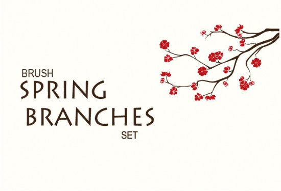 Spring Branches Photoshop Brushes Pack BONUS VALUE 20