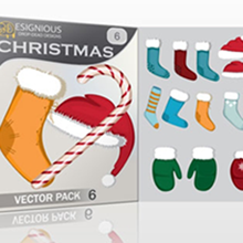Snowflakes, Santa, Christmas Trees and Snowmen Vector Packs for Your Illustrations