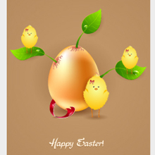 Free Vector of the Day #31: Easter Egg With Leaves