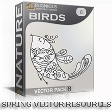 Add Delicate Vector Birds & Butterflies to Your Spring Design Projects