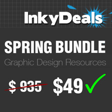 Inky Deals Spring Bundle: $935 worth of design goods for only $49 + Contest!