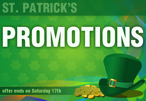 St. Patrick's Day Promotions and Discounts