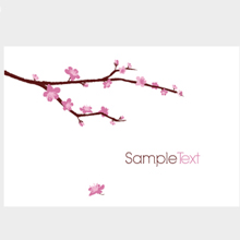 Free Vector of the Day #37: Blossomed Cherry Tree Branch