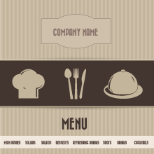 Free Vector of the Day #40: Restaurant Menu