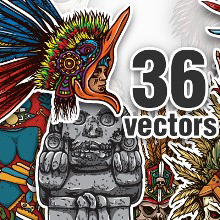 7 Remarkable Vector Packs & 1 Aztec Mega Pack from Designious.com!