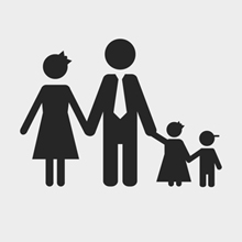Free Vector of the Day#95: Family Silhouette