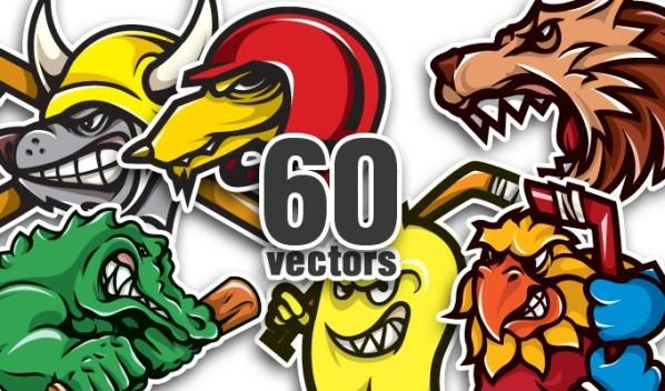 20 Brand New T-shirt Designs, 10 Mascots Vector Packs