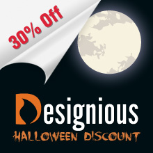 Halloween Discount on Designious.com: 30% Off All Products