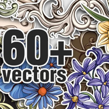 New Floral Vectors, Brushes & T-shirt Designs from Designious.com