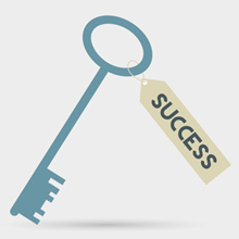 Free Vector of the Day #270: Key To Success Concept