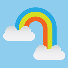 Free Vector of the Day #271: Rainbow and Clouds