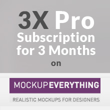 Giveaway: 3 Free Pro Subscriptions from Mockupeverything.com!