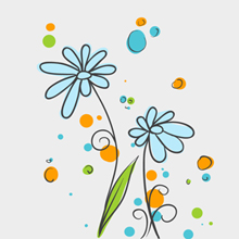 Free Vector of the Day #308: Flower Doodles