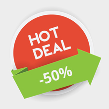 Free Vector of the Day #313: Hot Deals Badge