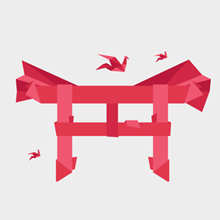 Free Vector of the Day #317: Origami Tori Gate