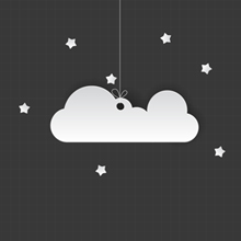 Free Vector of the Day #321: Paper Cloud
