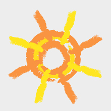 Free Vector of the Day #358: Painted Sun