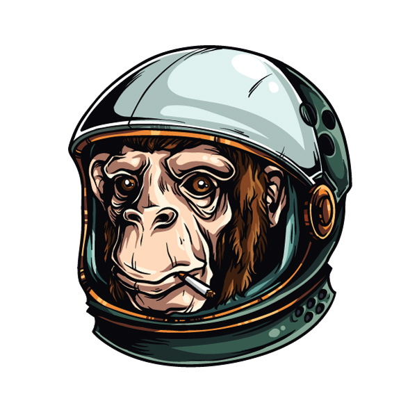 How to draw an astrochimp