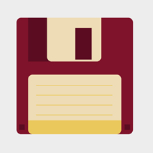 Free Vector of the Day #419: Floppy Disk