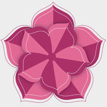 Free Vector of the Day #424: Stitched Flower