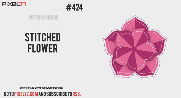 pixel77-free-vector-stitched-flower-0917-600