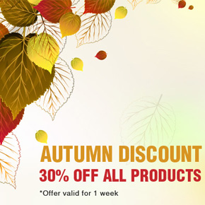 Autumn Special: Get any product on Designious at 30% off