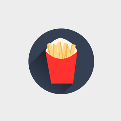 Free Vector of the Day #471: French Fries Icon