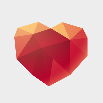 Free Vector of the Day #474: Origami Heart